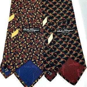 Salvatore Ferragamo Accessories - Salvator Ferragamo Tie Lot of 4 100% Silk